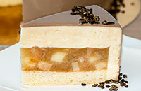 Муссовый яблочно-карамельный торт
