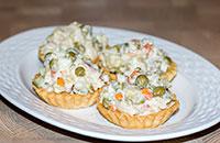 Рыбный салат (почти Оливье)