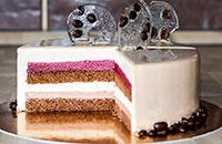 Кофейный торт Мокка с вишней