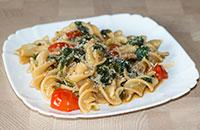 Паста со шпинатом — простой рецепт