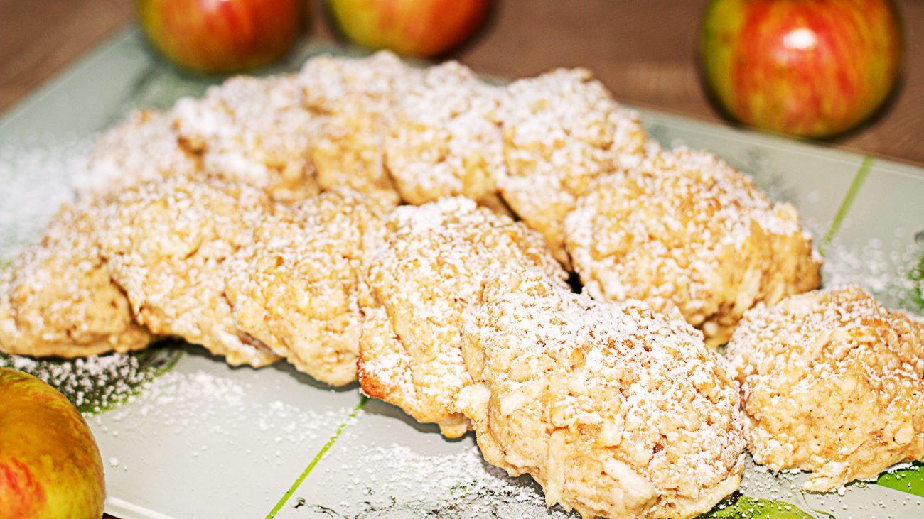 Быстрое яблочное овсяное печенье