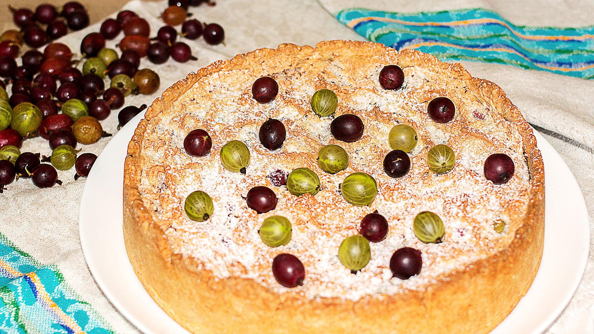 Пирог с крыжовником рецепт с фото
