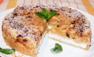 Яблочный пирог с творогом рецепт с фото