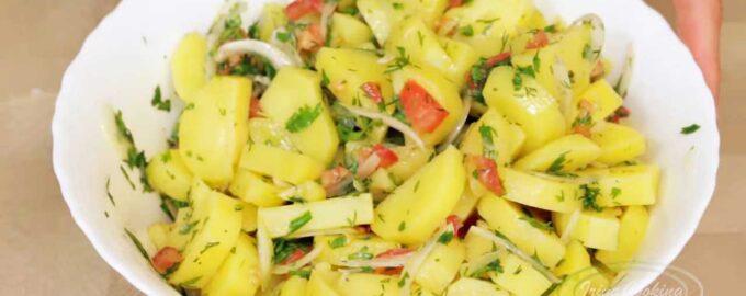 Салат из маринованного картофеля рецепт с фото