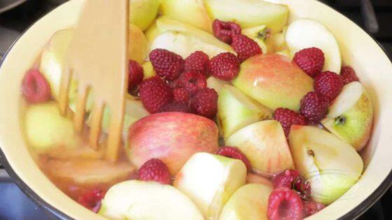 Подготовка яблок для желе