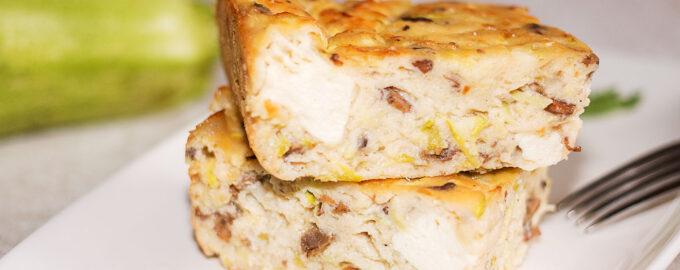 Кабачковый пирог флан рецепт с фото